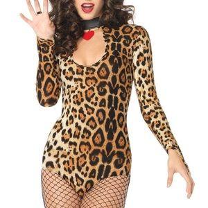 Leopard Costume Body Suit Size S